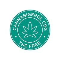 Cannabigerol CBG. THC Gratis pictogram.