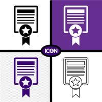 Certificaat pictogram symbool teken vector