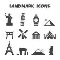 landmark pictogrammen symbool vector