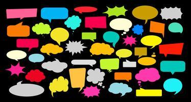 Ontwerpelementen voor spraak, bericht, sociaal netwerk. Vector illustratie en grafische elementen.
