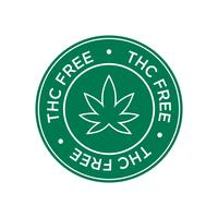 THC Gratis pictogram. Groen en rond symbool.