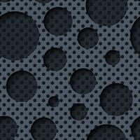 Twee lagen metalen platen met donkere naadloze achtergrond. vector