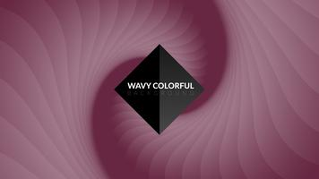 Golvende kleurrijke achtergrond vector