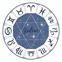 Dierenriem. Tekenen. Astrologisch symbool. Horoscoop. Astrologie. Mystiek. Vector.