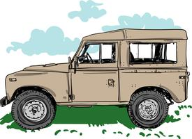 Off-road voertuig vectorillustratie vector