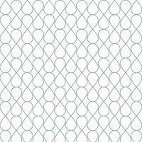 Abstracte naadloze geometrische blauwe het ornament modieuze achtergrond van het lijnenpatroon. Raster met krullende cellen streep tegel textuur gaas van druppels.
