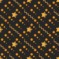 Ster Naadloos Patroon, Hand Getrokken Geschetste Krabbelsterren, Vectorillustratie