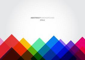 Abstracte achtergrond kleurrijke geometrische sjabloon moderne driehoeken overlappen met witte ruimte voor tekst.