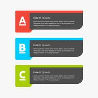 Kleurrijke minimale creatieve vectorpng banners