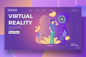 Virtuele realiteit bestemmingspagina sjabloon