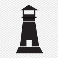 vuurtoren pictogram symbool teken vector