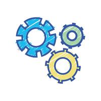 kleur tandwiel industrie engineering proces vector