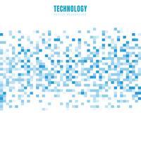 De abstracte geometrische witte en blauwe achtergrond en de textuur van het vierkantenpatroon met exemplaarruimte. Stijl van technologiegegevens. Mozaïek raster.