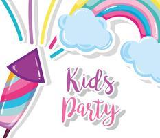 Kinderfeest cartoon vector