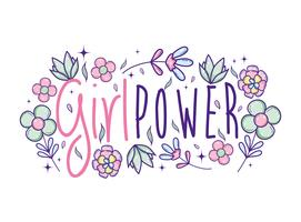 Girl power leuke cartoons vector