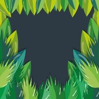 Groene bladeren cartoon vector