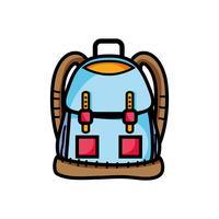rugzak object met zakken en sluitingen ontwerp