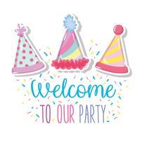 Welkom bij ons feest vector