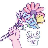 Power cartoons voor meisjes vector