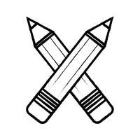 figuur potloden kleuren school tool object ontwerp vector