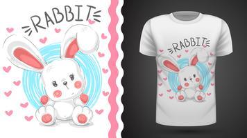 Teddy konijn, konijn - idee voor print t-shirt vector