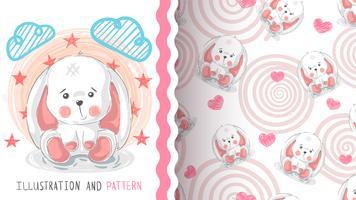 Gelukkige Pasen, konijn - naadloos patroon