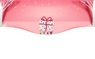 Vrolijk kerstfeest en een gelukkig nieuwjaar. Kerst verkoop. Vakantie achtergrond. papier ambachtelijke stijl