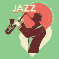 Abstracte jazzkunst voor poster vector