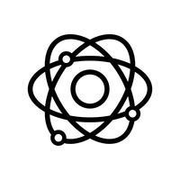 lijn natuurkunde baan atoom scheikunde onderwijs vector