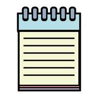 notebookpapier objectontwerp om te schrijven