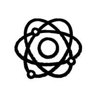 figuur natuurkunde baan atoom scheikunde onderwijs vector