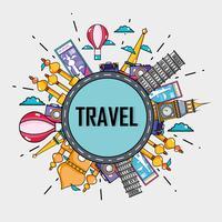 reis vakantie landen om te bezoeken vector