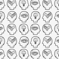psychologie behandeling analyse achtergrond ontwerp vector