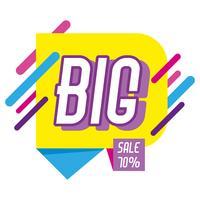 Grote verkoop het winkelen affiche de stijl van Memphis