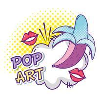 Popart grappige cartoons vector