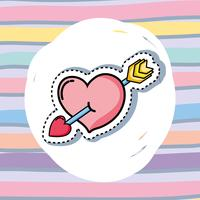 patches ontwerp met Valentijnsdag symbool van de liefde vector
