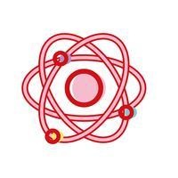 natuurkunde baan atoom scheikunde onderwijs vector