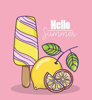 Hallo zomercartoons vector