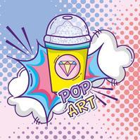 Pop art tekenfilms concept vector