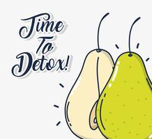 Tijd om te ontgiften vector