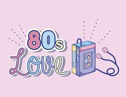 Ik hou van cartoons uit de jaren 80 vector