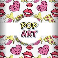 Pop art achtergrond cartoons vector