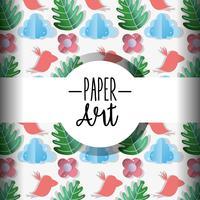 Papier kunst achtergrond