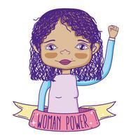 Vrouw macht meisje cartoon vector