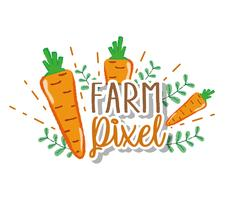 boerderij pixel cartoons vector
