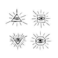 Oog pictogram symbool teken vector