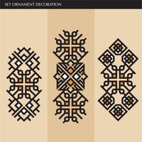 Luxe Japanse, kalligrafische, Azteekse elegante ornamentlijnen