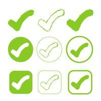 simpel vinkje pictogram goedkeuren teken goedkeuren vector