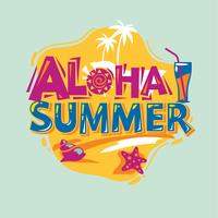 Aloha Summer. Zomervakantie. Zomer citaat vector