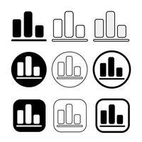 Eenvoudige reeks van diagram en grafiekpictogram